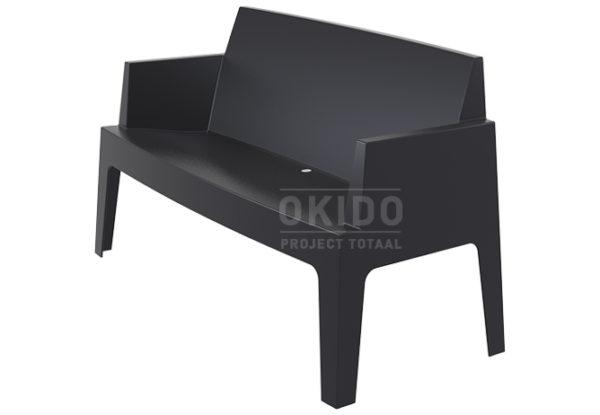 Box sofa black side 600x415 - Box Outdoorbank