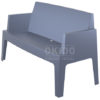 Box sofa dark grey front side 100x100 - Box Outdoorbank