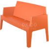 Box sofa orange side 100x100 - Box Outdoorbank
