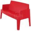 Box sofa red side 100x100 - Box Outdoorbank