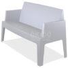 Box sofa silver grey front side 100x100 - Box Outdoorbank