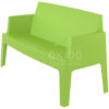 Box sofa tropical green side 100x100 - Box Outdoorbank