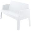 Box sofa white side 100x100 - Box Outdoorbank