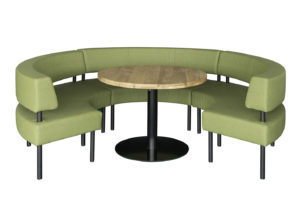 loungebank dinerbank oro met tafel