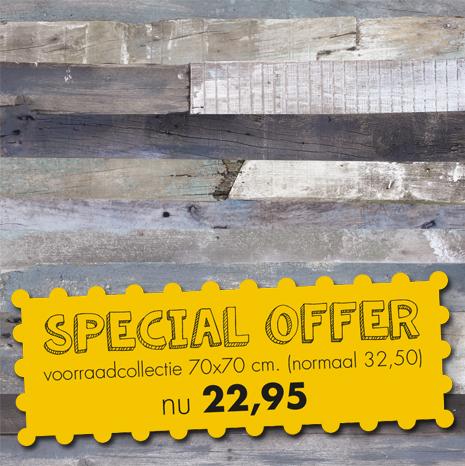 HOOFDFOTO met Special Offer - Terrastafelblad Werzalit 264 Blanchas Blauw