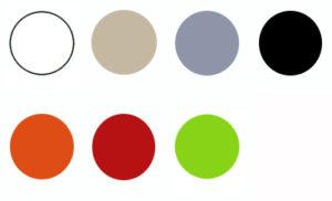 Kleurkaders Ariane zonder geel 300x182 - Barkruk Ariane Dark Grey