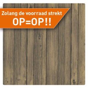 Terrastafelblad Werzalit 201 antiek bruin