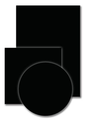 Melamineblad T011 zwart-perl