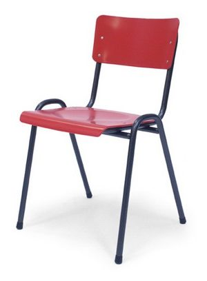 easy rood e1599656126114 - Metalen stoel Easy 3300
