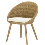 horeca Terrasstoel egg chair honey