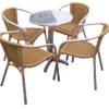 horeca Terrasstoel San Remo. Een set van 4 stoelen met tafel