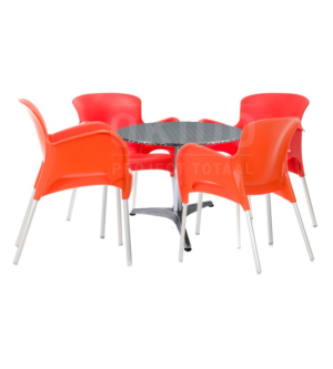 Horeca terrasset Mars met terrasstoelen en tafel