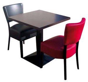stoel Lisa 2x met tafel 70x70 gietijzer poot 300x280 - Lisa Set 3