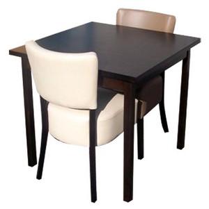 stoel Lisa 2x met tafel 70x70 met 4 poten - Lisa Set 2