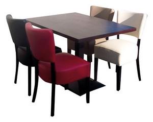 stoel Lisa 4x met tafel 120x80 met gietijzer poot - Lisa Set 4