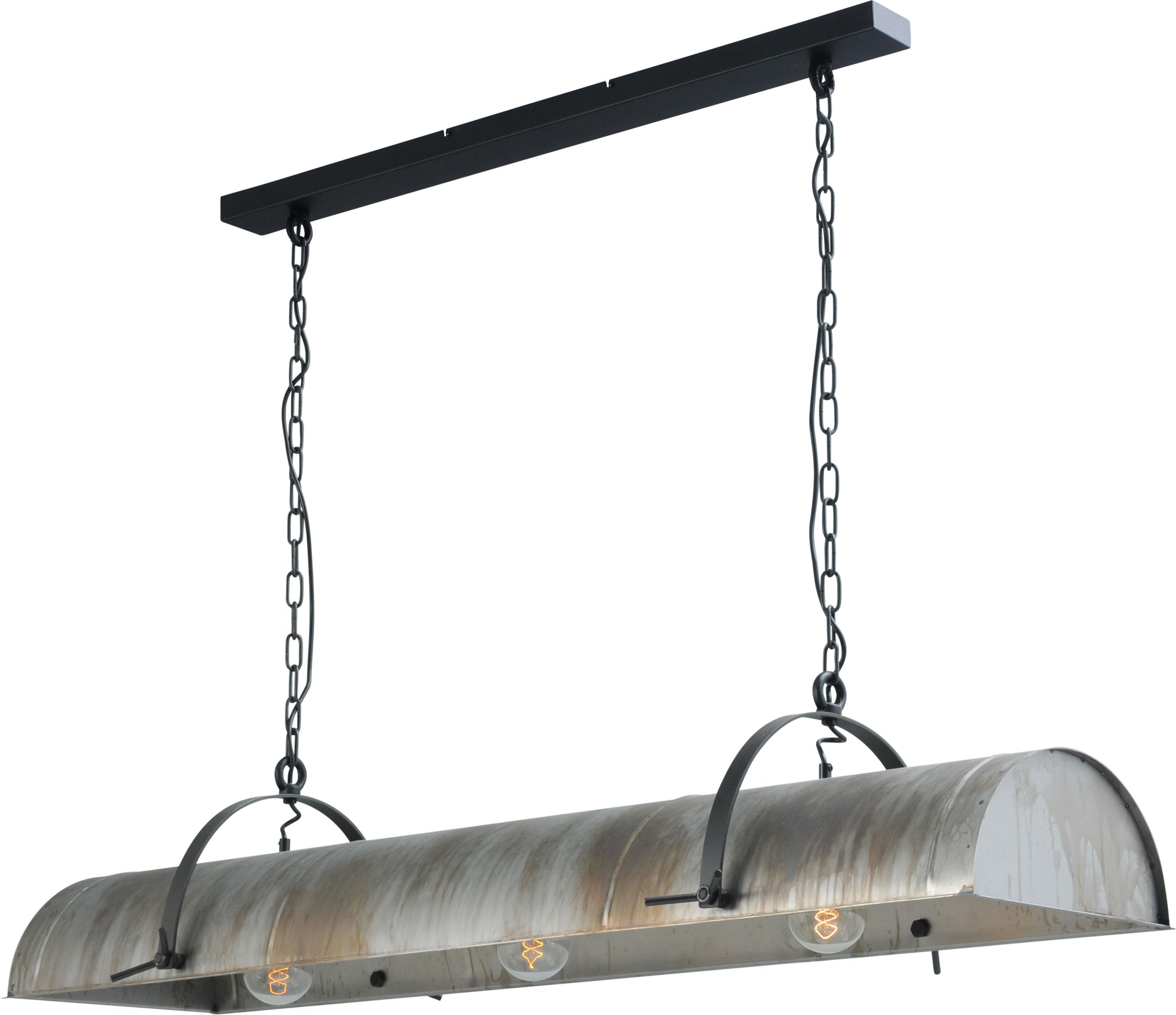 Lamp Petrol Aged Steel