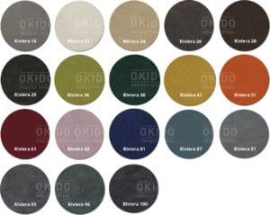 Riviera kleurrondjes met logo 300x239 - Stoel Feline