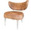 De stoel Arizona Cognac is gemaakt van echt leder.