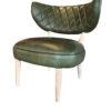 De stoel Arizona Groen is gemaakt van echt leder