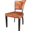 De stoel Carl Cognac is uitgevoerd met Arizona kunstleder.