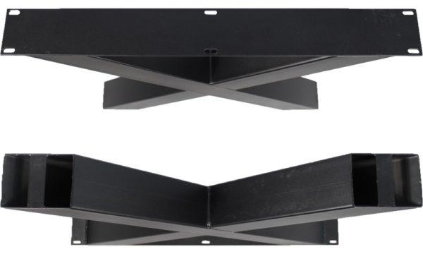 x poot zwart boven onder a 600x360 - Stalen onderstel X poot