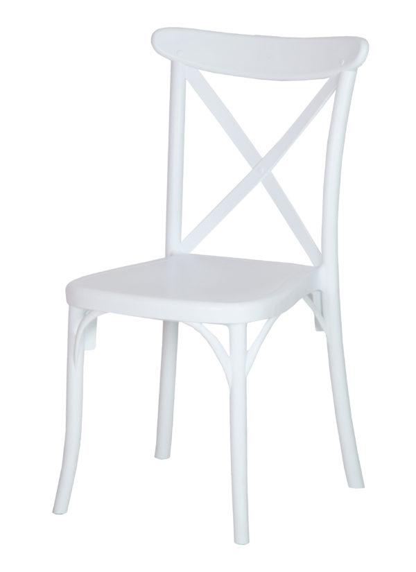 De stoel Silvan is stapelbaar tot 6 hoog.