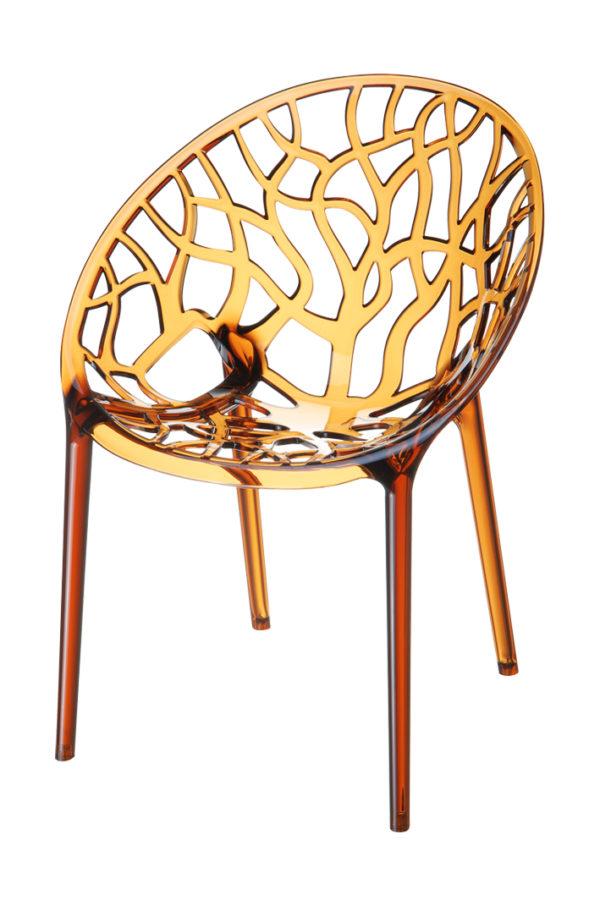 designstoel crystal amber