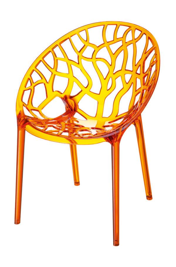 designstoel crystal oranje