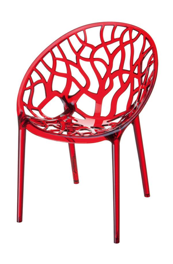 designstoel crystal rood