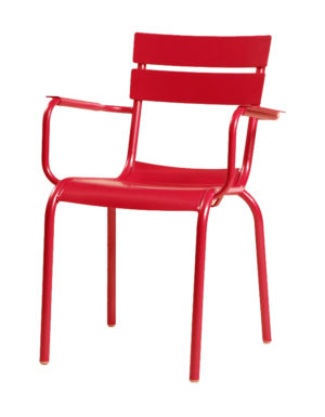 stoel rivoli aqua rood