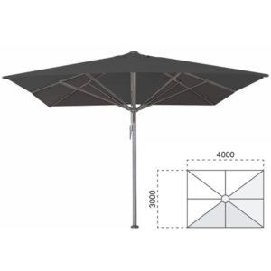 Parasol Bella 300×400 zwart