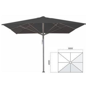 Parasol Bella 400×500 zwart