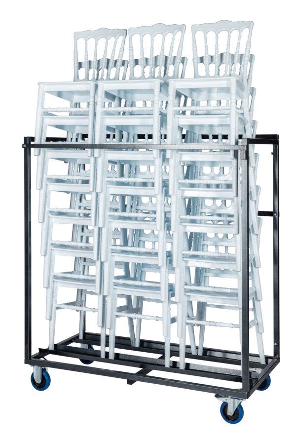 Transportkar voor een stapel stoelen recht zij aanzicht 600x899 - Transportset Napoleon