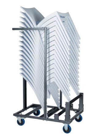 Transportkar voor een stapel stoelen zij aanzicht 300x450 - Transportset Samba enkel