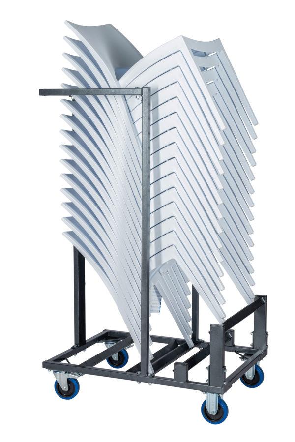 Transportkar voor een stapel stoelen zij aanzicht 600x899 - Transportset Samba enkel