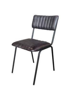 Stoel Maxim antraciet is een stapelbare stoel.