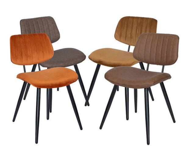 Groepsafbeelding Demi stoelen 600x488 - Stoel Demi groen