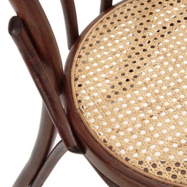 Stoel A-018 bruin cane webbing