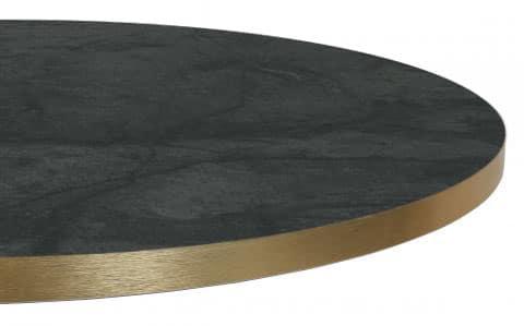 Melaminetafel marmer zwart