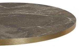 T569 groen marmer 300x187 - Melamineblad T569 met messing/koper rand