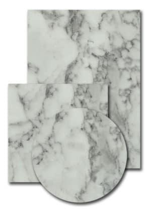 Melamineblad T566 wit marmer