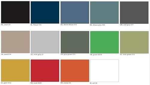 a450 kunststof zaalstoel met armleggers goed stapelbaar frame chroom blauw bl 516 3 1 - Armstoel A450