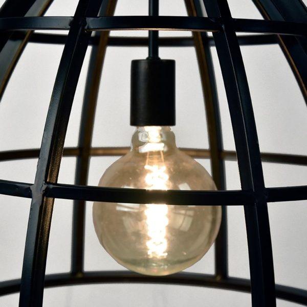 hanglamp fuse zwart staal katrol 47x47x42 cm detail 1 1 600x600 - Hanglamp Fuse