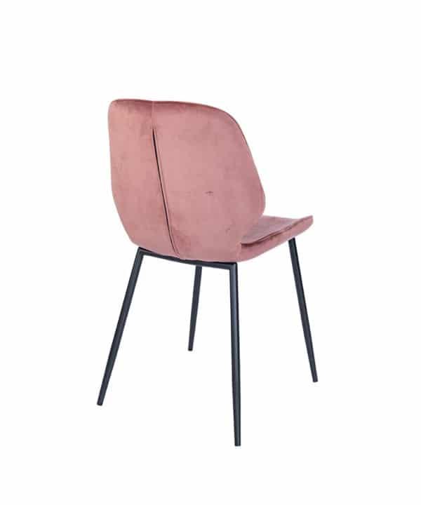 e 600x720 - Stoel Ocean Velvet oud roze