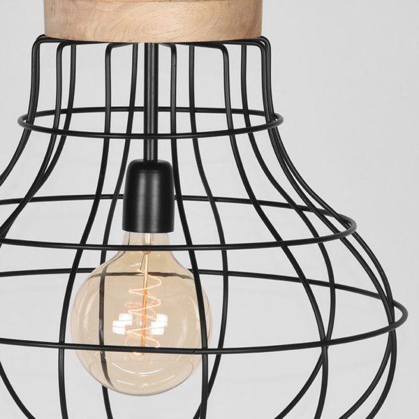 Hanglamp Drop zwart metaal