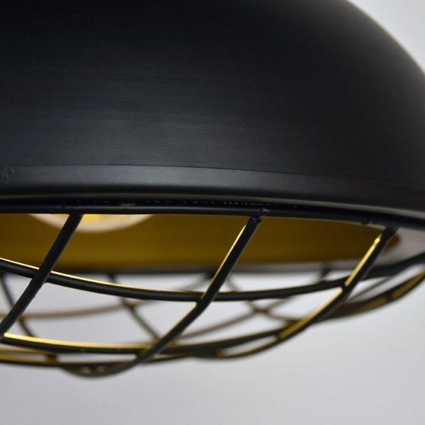 Hanglamp Grid zwart metaal