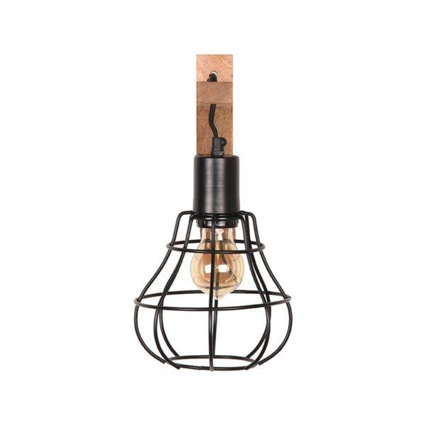 Wandlamp Drop zwart metaal