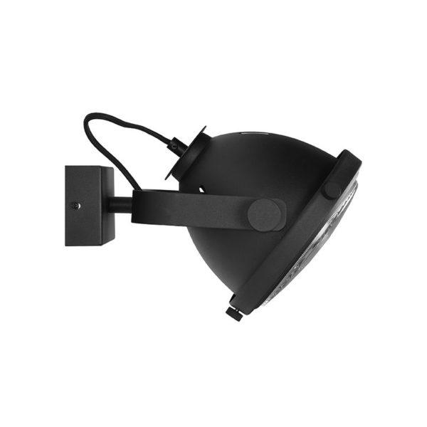 wandlamp tuk tuk zwart metaal 20x27x21 cm zijkant 600x600 - Wandlamp Tuk Tuk zwart