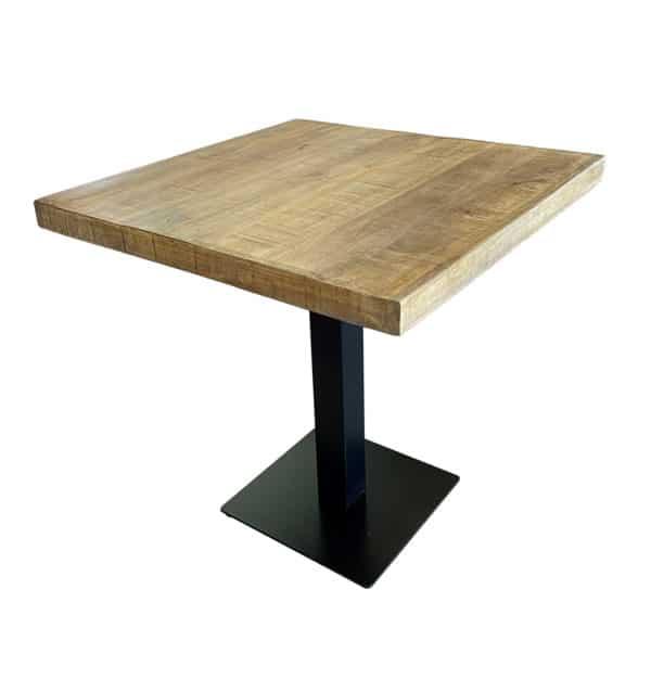 mangohout tafel 70x70 1 600x626 - Tafel mangohout 70x70
