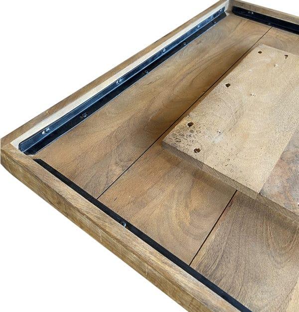 mangohout tafel onderkant 600x626 - Tafel mangohout 120x70